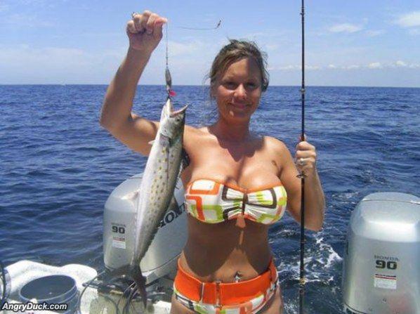 Fish Vs. Hot Chick Bikini Top