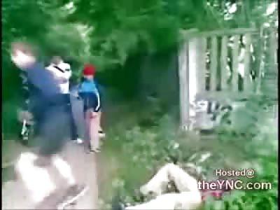 Brutal and Random Tornado Kick KO to the Face