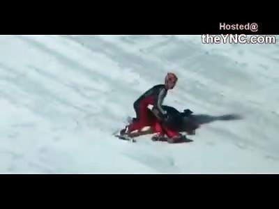 Ski Jumper Doesn't make this Jump