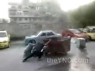 Syrian Man Brutal Head Shot Death During Riot